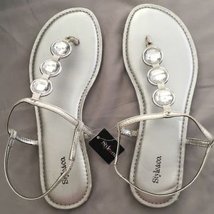 Style & Co Silver Sandals NWT